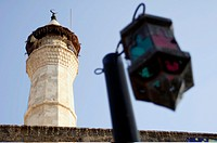 Mosque minaret in Beirut down town, Lebanon