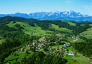 aerial view, Alpstein, Appenzell, Appenzellerland, Deceiving, flight, hill, Eastern Switzerland, Europe, photo, scen