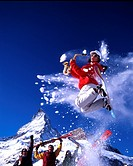 action, adventure, cheering, happiness, joy, jump, luck, Matterhorn, nature, saxophone, Snowboard, spare, sports, Sw