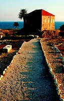 Old house at the coast in Byblos, Lebanon
