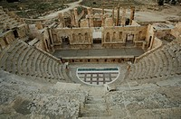 The North Theatre in Jerash, Jordan