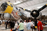 Restored World War II B-17 bomber. Palm Spring air museum. CA. USA