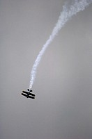 Pilot Bill Carter in precision performance. Bagotville International Airshow. Bagotville military base, Quebec, Canada