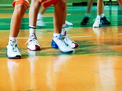 basketball player´s legs