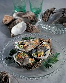 oysters with vegetables