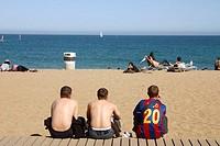Barceloneta beach. Barcelona. Spain.