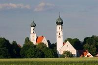 Mariä Himmelfahrt Pilgrimage church in Haindling, near Geiselhöring, Lower Bavaria, Germany