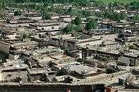 Tibetan houses, Gyantse. Tibet
