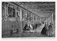 Gallery of Francis I in Engraving from 'Le tour du monde'