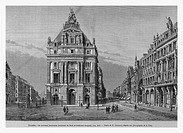 Brussels, Belgium. Engraving from 'Le Tour du Monde'