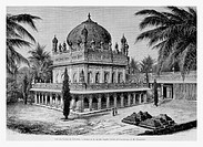 Tomb, India. Engraving from 'Le Tour du Monde'