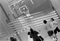 Girls playing basket in Rinkeby, Stockholm