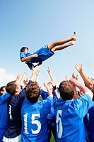 Soccer team celebrating (thumbnail)