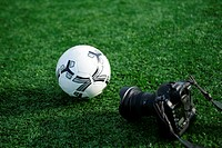 Soccer ball and camera