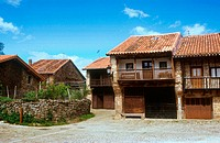 Typical houses. B&#225;rcena la Mayor, Cantabria. 2005