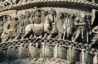 Column of Marcus Aurelius. Piazza Colonna. Rome. Italy.