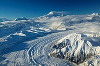 Mt. McKinley (Denali). Highest Peak in North America (elev. 20,320 Ft). Aerial View. Winter. Denali National Park. Interior. Alaska. USA.