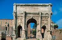 Arch of Septimius Severus. Roman Forum. Rome. Italy.