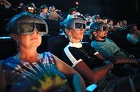 3-D Movie audience