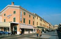 Harbour, dock. Bardolino. Garda Lake. Veneto. Italy.