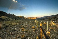 sunset in Weltvrede valley near Prince Albert, little Karoo, Western Cape, South Africa