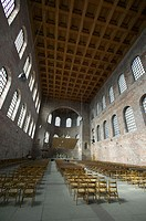 Interior of the Basilica, formerly Emperor Constantine´s throne room, now a Protestant church. Trier. Moselle River Valley. Germany