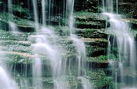 Cascading waterfalls. USA