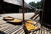 Drying corn in Iban Long House, Sarawak (Borneo). Malaysia