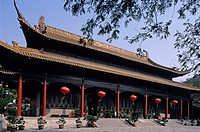 Chaotian gong, Warshipping Heaven Palace. Nanjing (Nankin). Region Jiangsu, China.