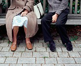 Senior couple on a bench