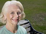 Elderly woman in a park