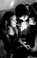 Couple smoking