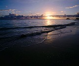 Sunrise at Kailua beach. Island of Oahu. Hawaii. USA