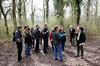 Pedagogical trip to the Rhin forest. Marckolsheim. France.