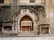 Sarcophagi. Cister route. Vallbona de les Monges. Urgell. Lleida province. Catalunya. Spain.