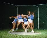 10030640, athlete, discus throwing, discus throw, athletics, net, no model release, sport, stroboscope admission,