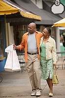 Mature couple shopping together
