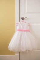 Dress hanging on a doorknob