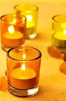 Tea candle still life