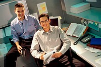 Portrait of two businessmen in an office