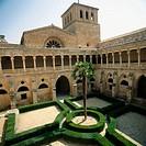 Claustro de los Caballeros (Cloister of the Knights), 12-13th c. Monasterio de Santa María de Huerta, Soria province, Spain