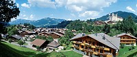 10347409, chalets, Gstaad, hotel Palace, Bernese Oberland, canton Bern, scenery, Switzerland, Europe, overview, clouds, weathe