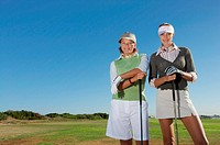 Portrait of Two Women in Golfwear