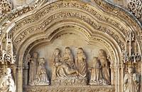 Main door of church, convent of Santa Cruz la Real. Segovia. Castilla-León, Spain