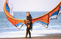 Kite surfer or kite sailor