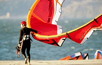 Kite surfers or kite sailors