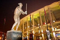 Statue of Stan Musial in front of Busch stadium in St. Louis, Missouri. USA