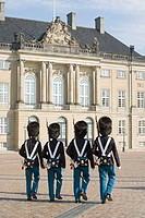 Guards at Amalienborg Palace, Copenhagen, Denmark