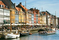 Typical architecture and boats at Nyhavn canal, Copenhagen, Denmark (thumbnail)