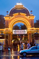 Main entrance to Tivoli pleasure park, Copenhagen, Denmark